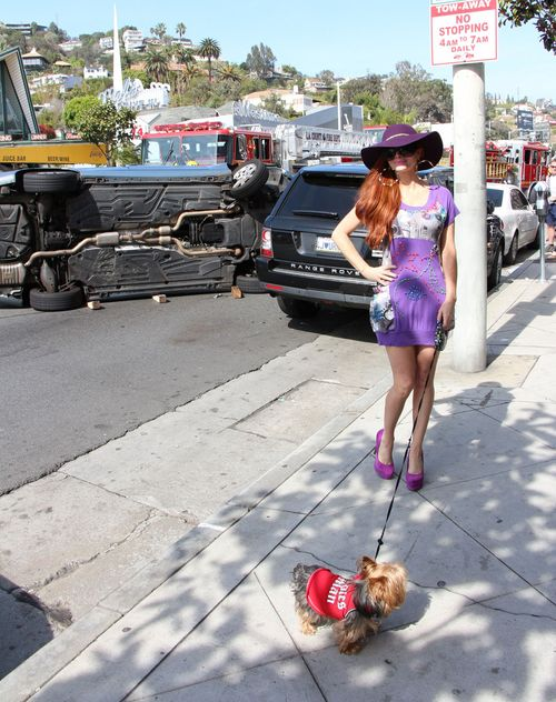 Phoebe Price lansowała się na tle wypadku (FOTO)