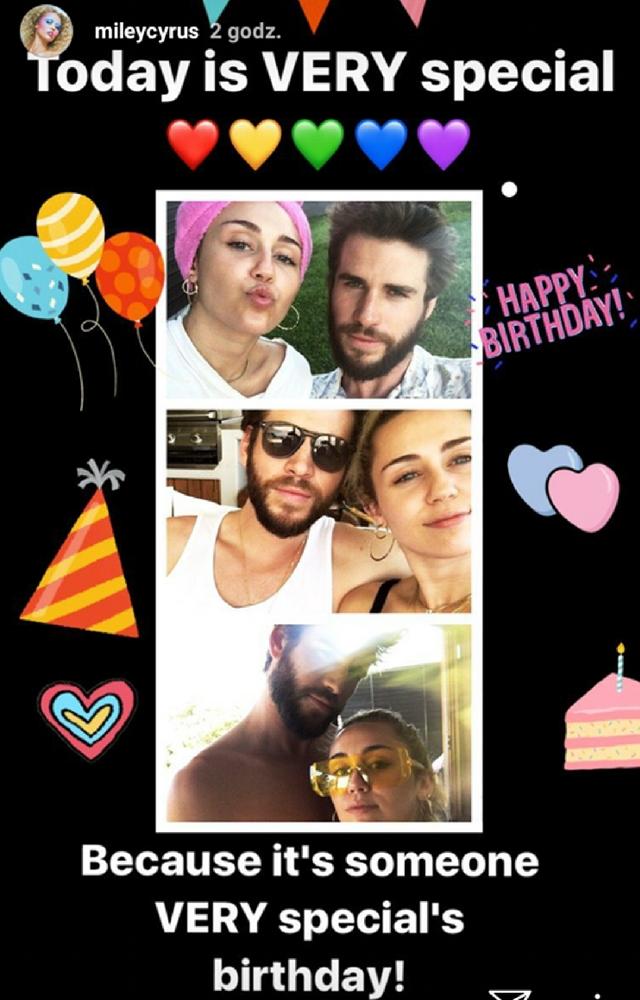 Co świętuje dzisiaj Miley i Liam?