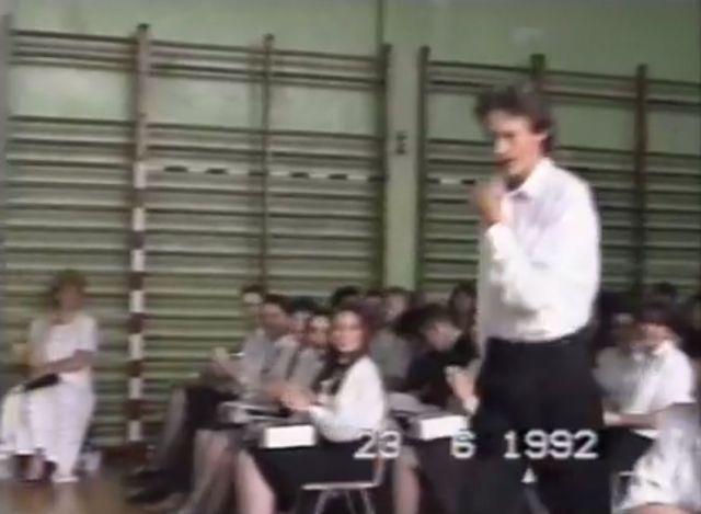 Marcin Prokop pokazał szkolne video sprzed ponad 20 lat FB