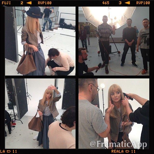 Anna Przybylska na planie reklamy telefonii komórkowej FOTO