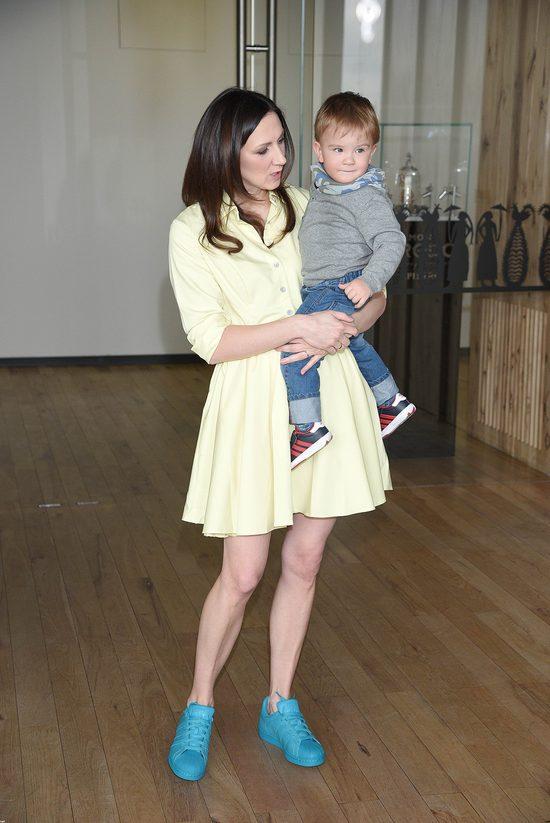 Monika Pyrek z synkiem Grzesiem na imprezie (FOTO)