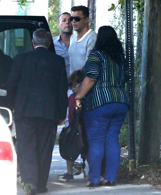 Ricky Martin przyłapany z synami (FOTO)