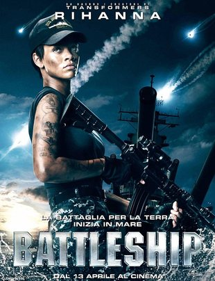 Rihanna na plakacie filmu Battleship (FOTO)