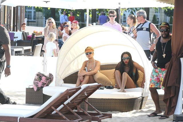 Rihanna na plaży w Sopocie (FOTO)