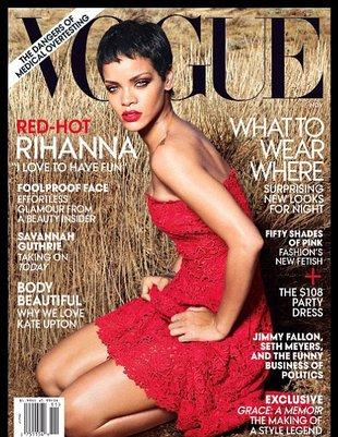 Rihanna przynudza na okładce amerykańskiego Vogue? (FOTO)
