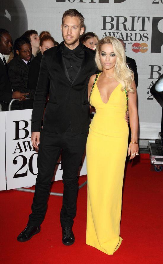 Rita Ora i Calvin Harris na BRIT Awards zachowali dystans...