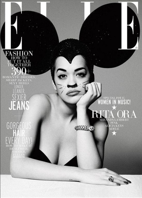 Rita Ora z uszami Myszki Miki (FOTO)