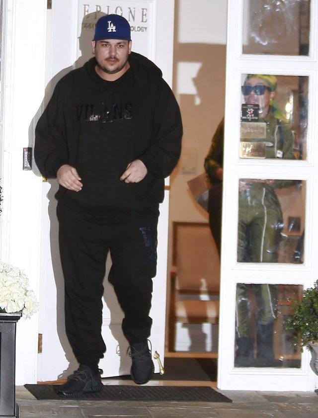 Rob Kardashian bez koszulki (Snapchat)