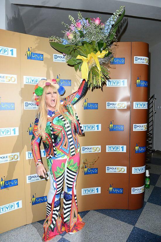 Najbardziej barwana postać festiwalu w Opolu (FOTO)