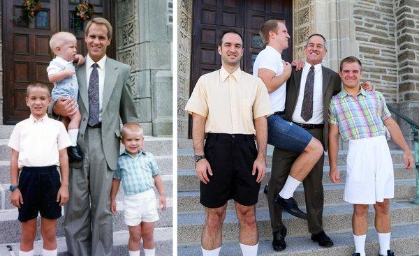 Genialne zdjęcia rodzeństwa odtworzone po latach