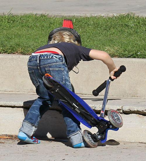 Dzieci Gwen Stefani szalały w parku