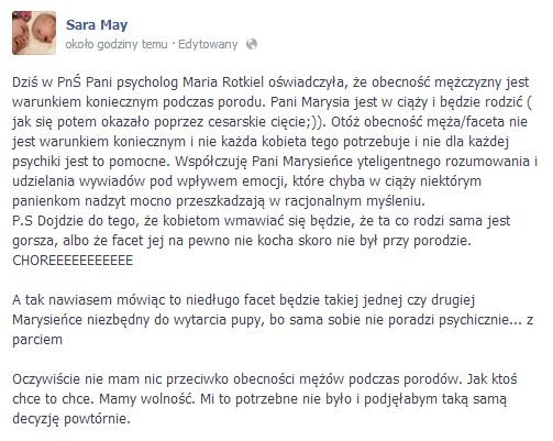 Maria Rotkiel oberwała od Sary May (FOTO)