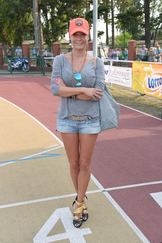 Małgorzata Rozenek mocno przejęła się meczem Radka (FOTO)