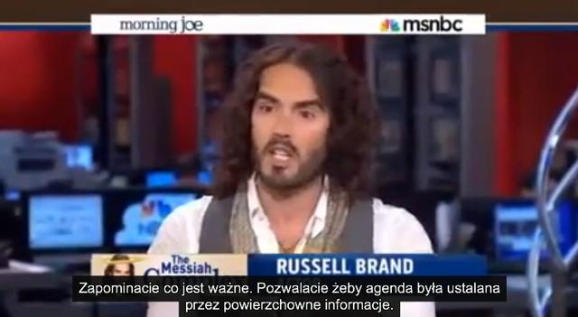 Russell Brand zrobił zadymę w telewizji śniadaniowej (VIDEO)