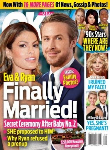Ryan Gosling i Eva Mendes wzięli ślub!