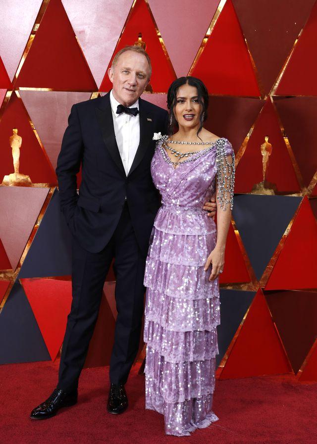 Salma Hayek na Oscarach w naszyjniku wartym 4 MILIONY dolarów (ZDJĘCIA)