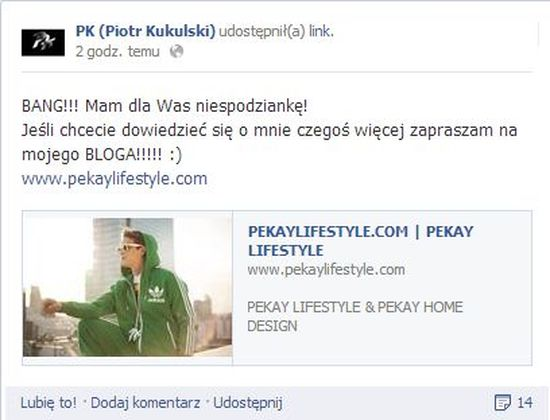 Pikej został blogerem!
