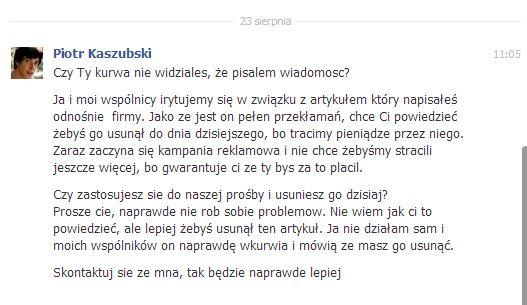 Piotr Kaszubski grosi i straszy Tomasza Saweczko (FOTO)