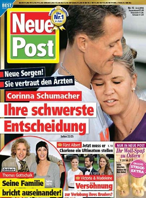 Corinna Schumacher bierze się w garść