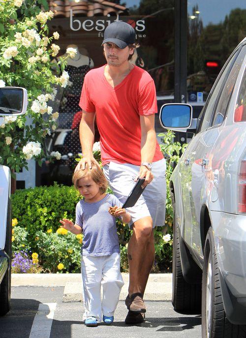 Scott Disick zajmuje si� synem (FOTO)