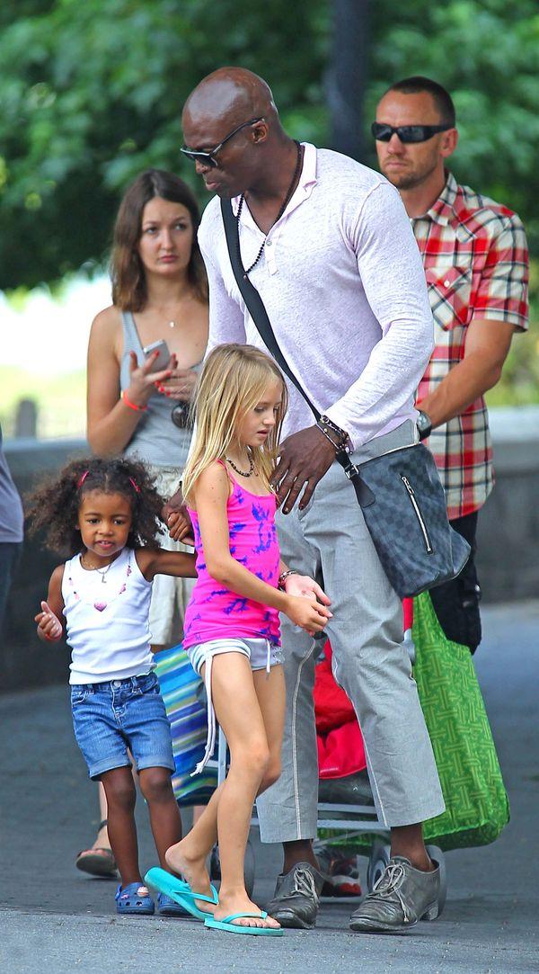 Seal z córkami Leni i Lou Samuel (FOTO)