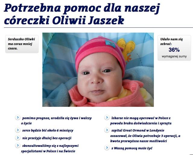 Julia Kami�ska t-shirtem nak�ania do pomocy Oliwce (FOTO)