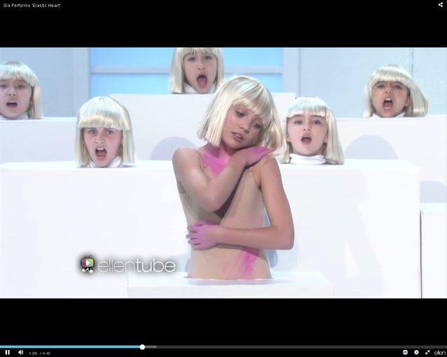 Sia u Ellen znów nie pokazała twarzy [VIDEO]