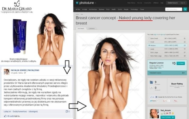 Siwiec chce wytoczyć proces za zdjęcie w reklamie kremu
