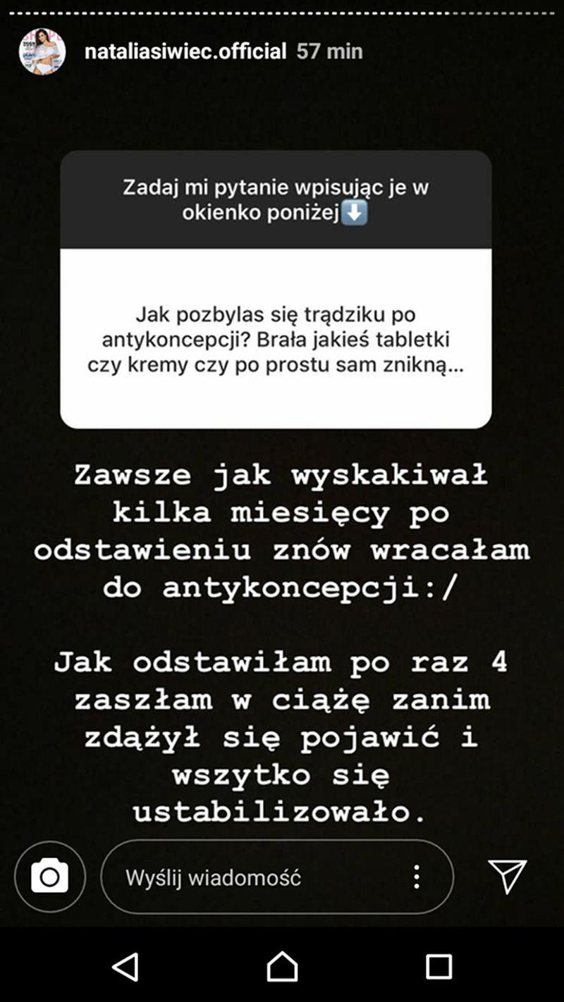 Natalia Siwiec MOCNO o antykoncepcji: Dostałam OKROPNEGO trądziku