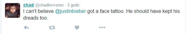 Justin Bieber zrobił sobie tatuaż... NA TWARZY!