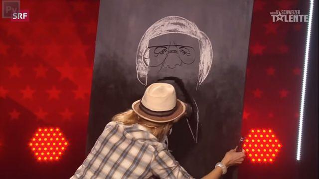 Niewiarygodna malarka w szwajcarskim Mam Talent! (VIDEO)