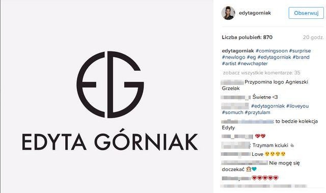 Edyta Górniak próbuje sił w nowej dziedzinie. Została... projektantką!