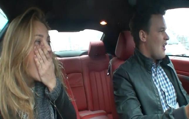Uszkodzone drzwi z Sochą w Maserati – ustawka? [VIDEO]