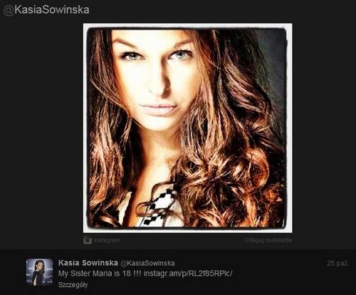 Kasia Sowińska pokazuje młodszą siostrę, Marię (FOTO)