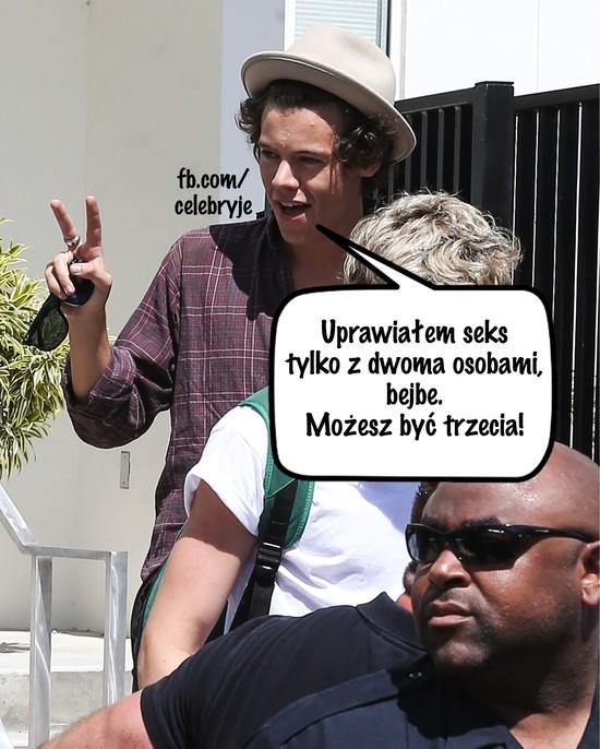 Z iloma osobami dok�adnie spa� Harry Styles?