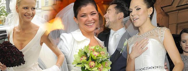 Ślubne suknie gwiazd i celebrytek (FOTO)
