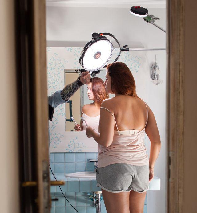 Naga sesja i sesja bez makijażu w #Supermodelka Plus Size (FOTO+VIDEO)
