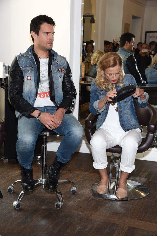 Sylwia Juszczak i Mikołaj Krawczyk na konferencji Celebrity Salon