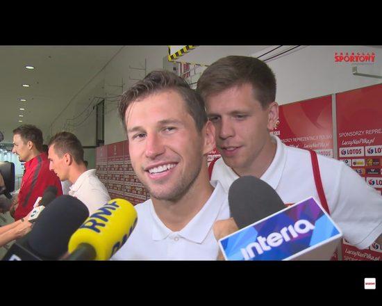 Wojciech Szczęsny robi sobie żarty w czasie wywiadu [VIDEO]
