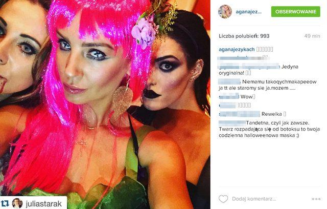 Agnieszka Szulim miała straszne oczy w tę noc (Instagram)