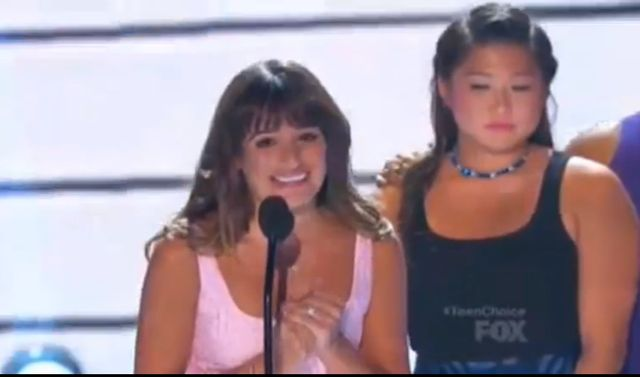 Lea Michele na Teen Choise Awards (VIDEO)