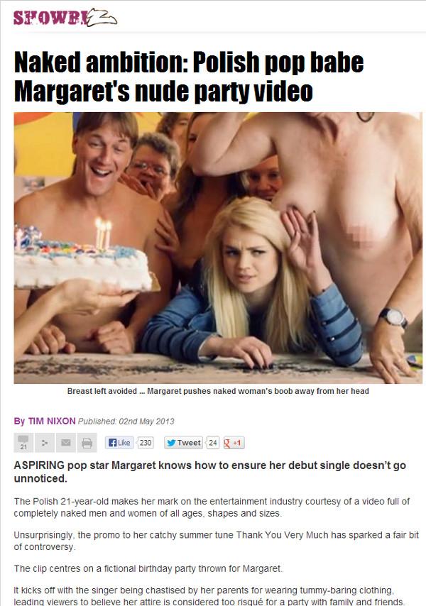 Margaret w brytyjskim tabloidzie