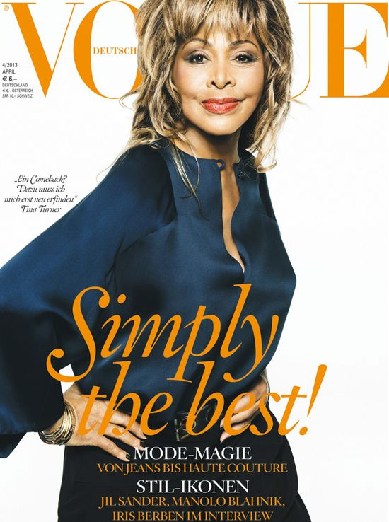 73-letnia Tina Turner na ok�adce Vogue (FOTO)