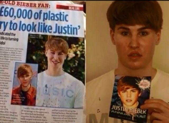 Toby Sheldon wydał fortunę, by wyglądać jak Justin Bieber!