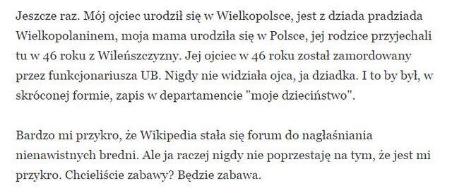 Mocno zdenerowany Tomasz Lis grozi pozwem Wikipedii