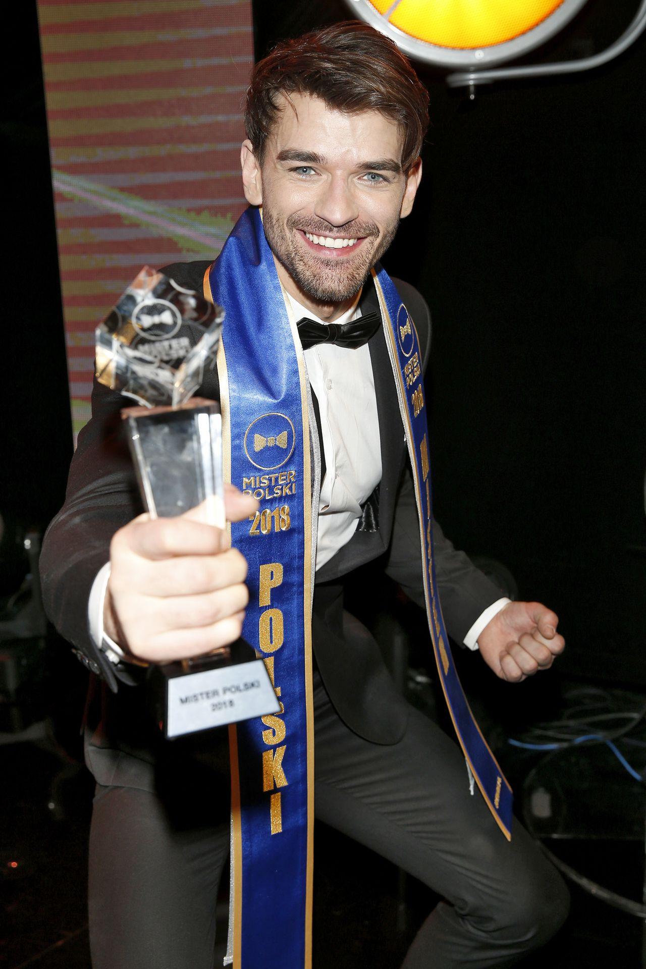 Nowym Misterem Polski 2018 został niebieskooki Tomasz Zarzycki, 26 l., model z Ł