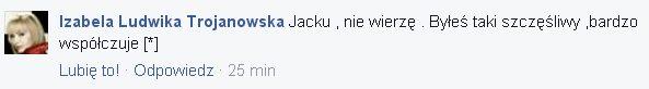 Jacek Borkowski na FB: S�O�CE moje zgas�o...