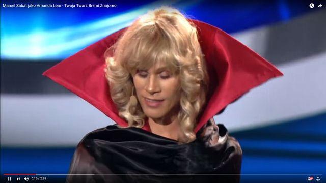 MEGA WYSTĘP! Marcel Sabat jako Amanda Lear w Twoja Twarz Brzmi Znajomo