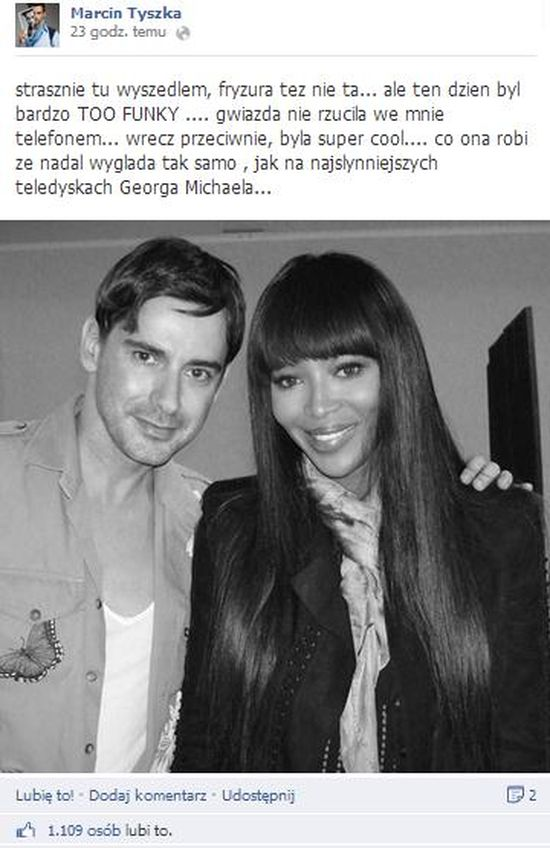 Co ��czy Marcin Tyszka z Naomi Campbell?! (FOTO)