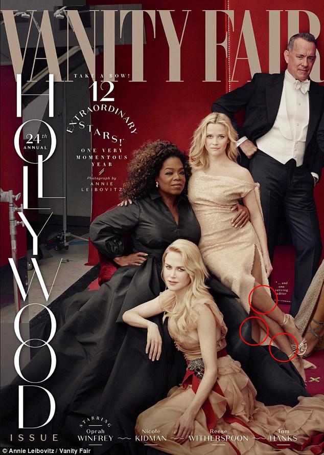 Reese Witherspoon ma 3 nogi, a Oprah Winfrey 3 ręce na okładce Vanity Fair